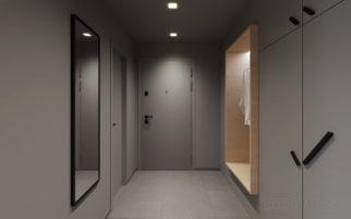 Vizualizace návrhu rekonstrukce panelového bytu Červený Vrch