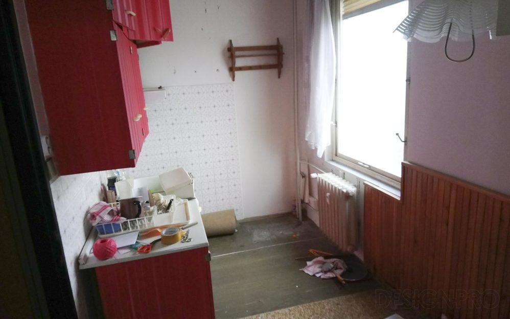 Původní stav panelového bytu Červený Vrch