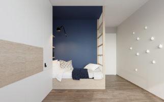 Návrh interiéru pokoje pro teenagera