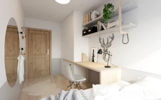 Návrh pokojů pro teenage sestry v rodinném domě v Podolí