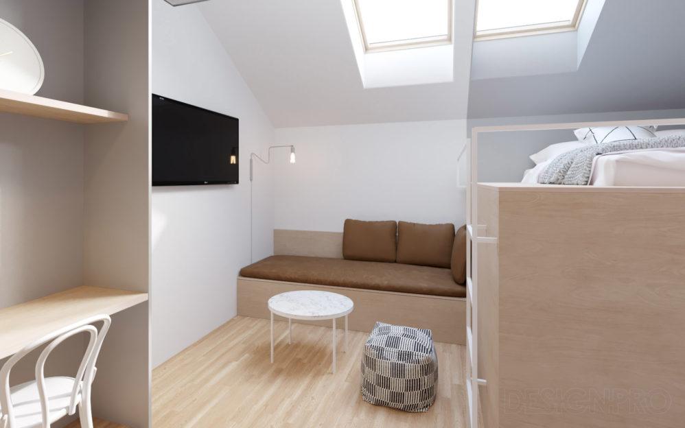 Návrh interiéru bytu Štěpánská