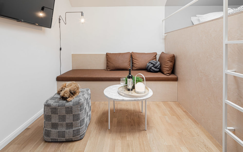 Výsledná realizace interiéru bytu Štěpánská na fotografiích