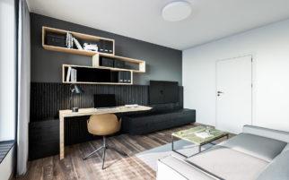 Interiér bytu U Michelského mlýna na vizualizaci