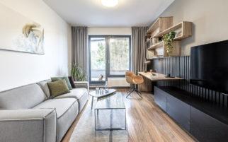 Výsledná realizace interiéru bytu U Michelského mlýna na fotografiích