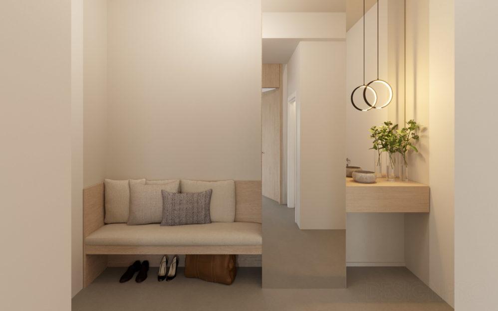 Interiér vstupní chodby v bytě v projektu Zátiší Rokytka