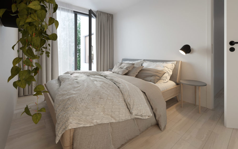 Interiér ložnice v bytě v projektu Zátiší Rokytka