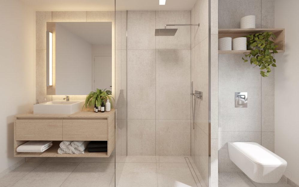 Interiér koupelny v bytě v projektu Zátiší Rokytka